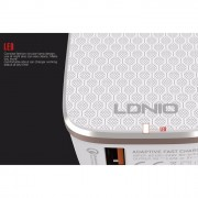 LDNIO Auto Id Adaptive Quick Charge 2.0 Charger - White