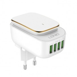 LDNIO 4 Port USB Charger For Android Phones 4.4A - White - A4405